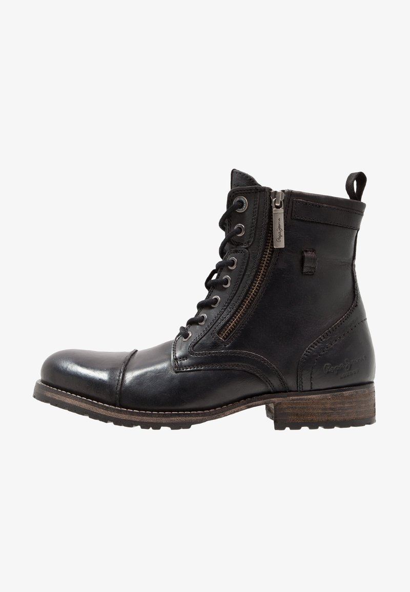 Pepe Jeans - MELTING ZIPPER NEW - Lace-up ankle boots - black