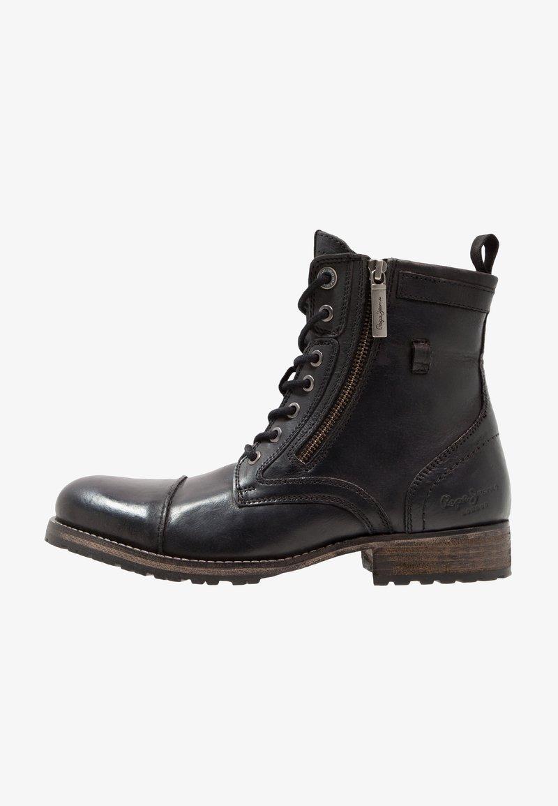 Pepe Jeans - MELTING ZIPPER NEW - Bottines à lacets - black