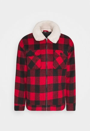 CHECK COLLAR WESTERN - Summer jacket - red