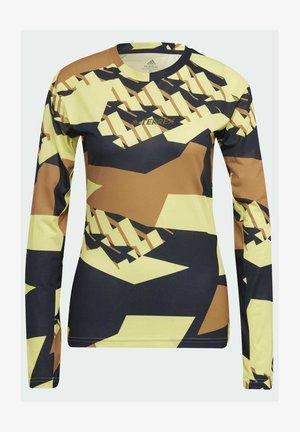 TERREX PRIMEBLUE TRAIL GRAPHIC LONGSLEEVE - Long sleeved top - yellow