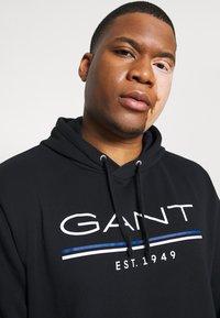 GANT - HOODIE - Sweatshirt - black - 3