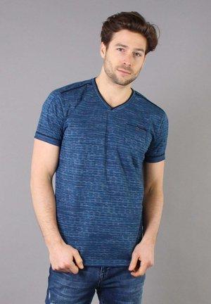 T-shirt med print - cobalt