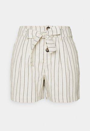 ONLVIVA CLEO STRIPE - Shorts - moonbeam/black