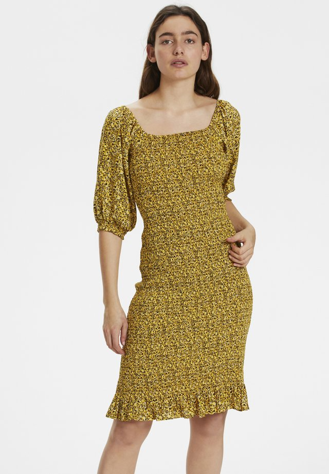 Day dress - yellow mini flower