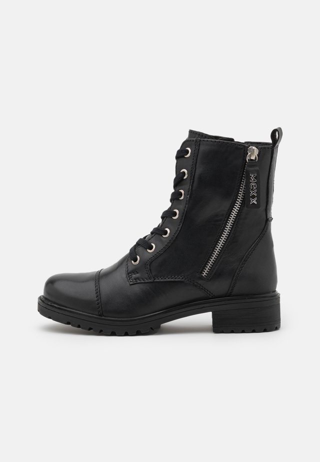 FLISS - Bottines à lacets - black