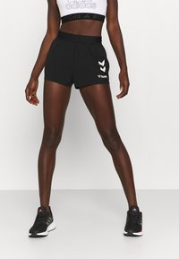 Hummel - PRO GAME SHORTS WOMAN - Sports shorts - caviar/marshmallow - 0