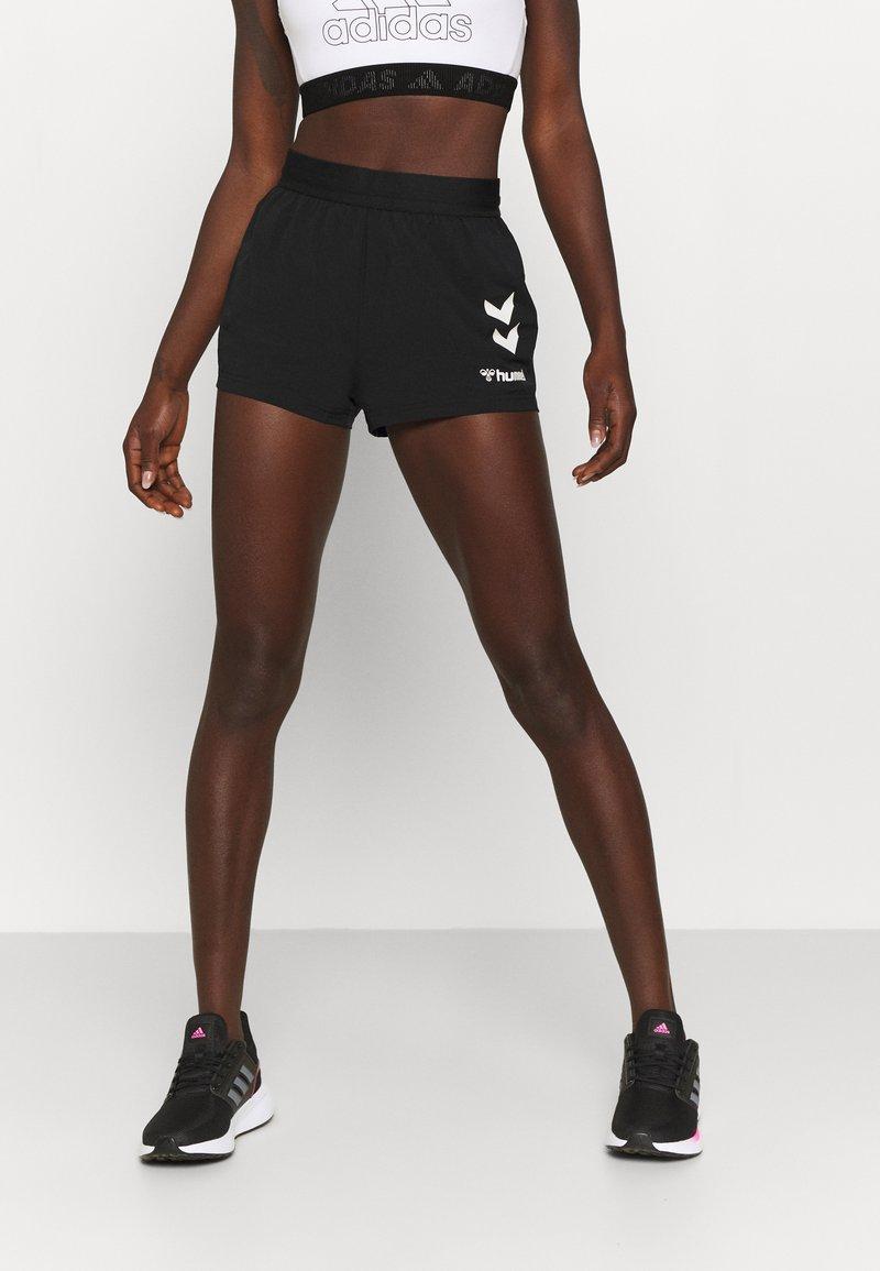 Hummel - PRO GAME SHORTS WOMAN - Sports shorts - caviar/marshmallow
