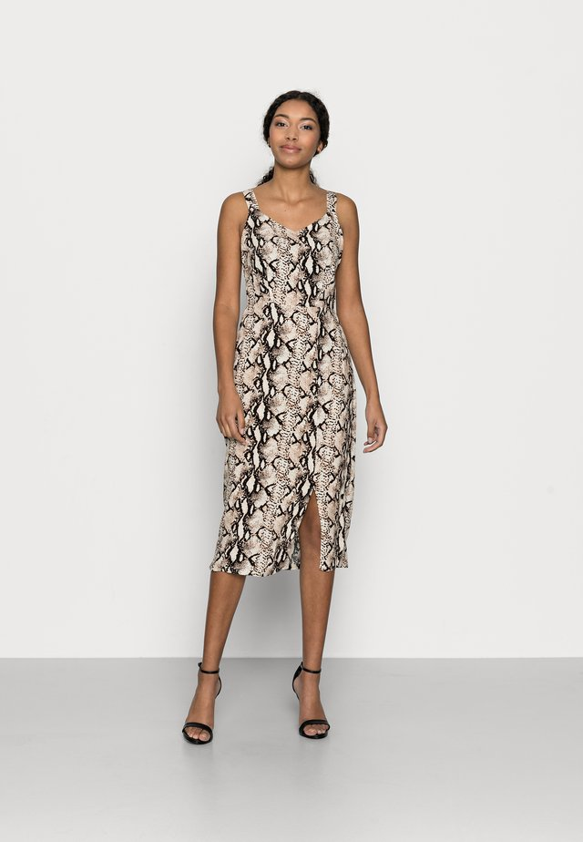 VMSIMPLY CALF DRESS - Korte jurk - birch