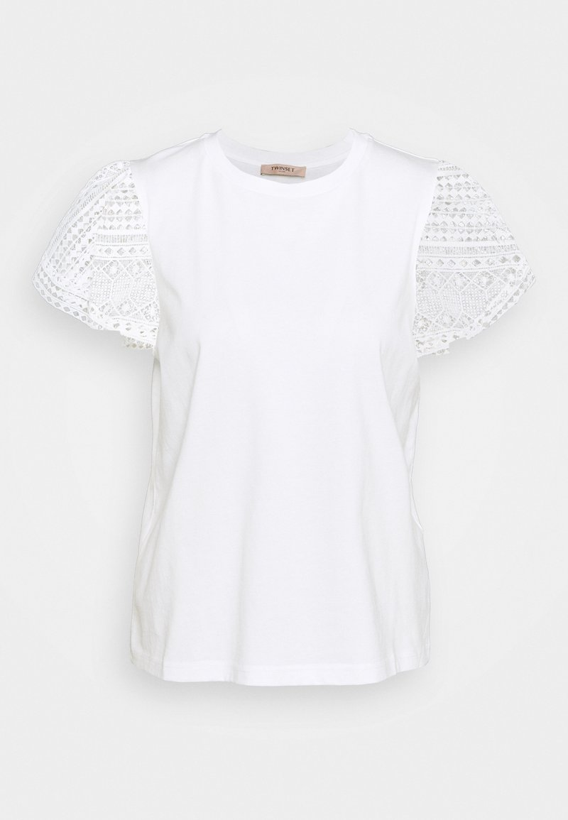 TWINSET - Print T-shirt - bianco ottico
