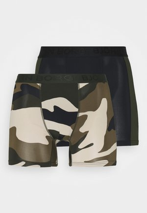 PEACEFUL SHORTS 2 PACK - Punčochy - rosin