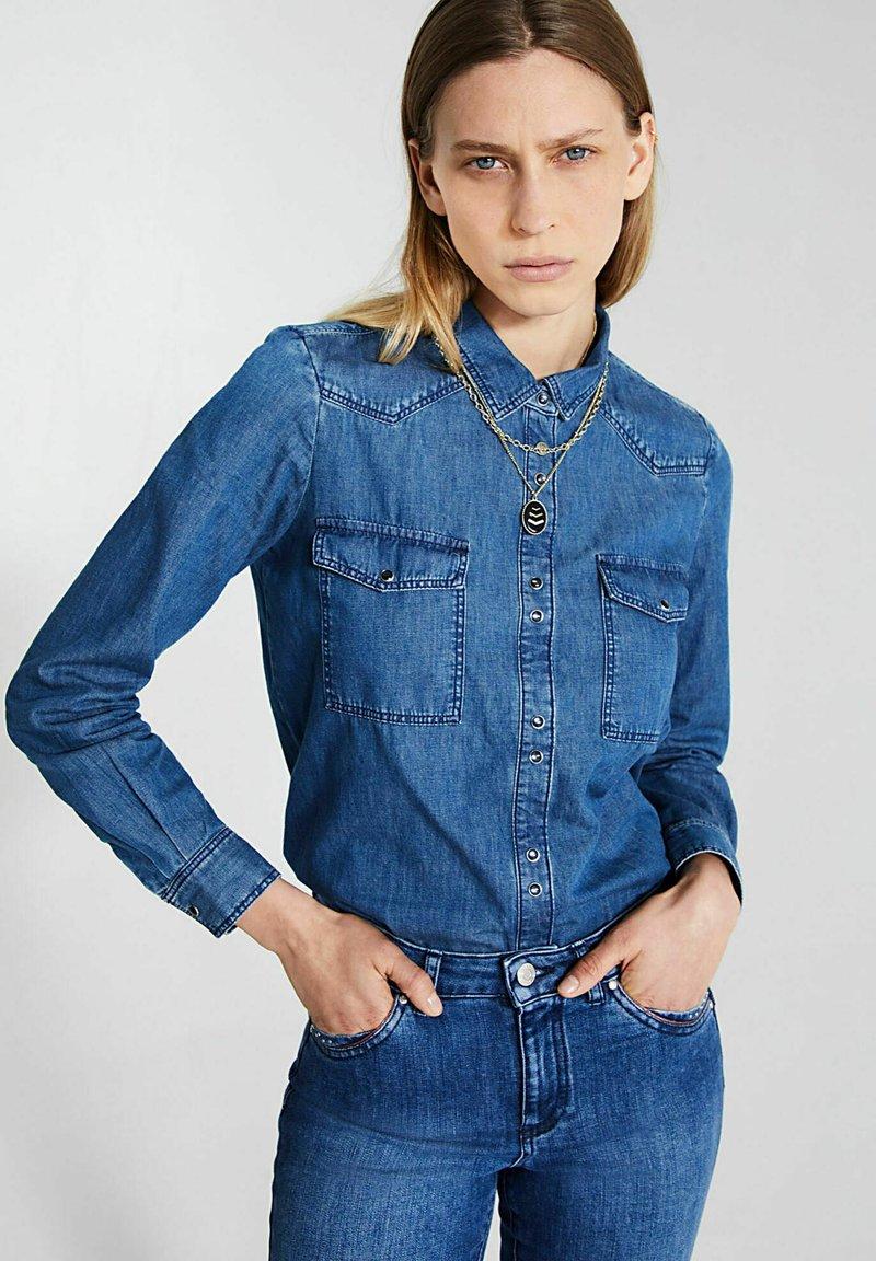 IKKS - Button-down blouse - indigo
