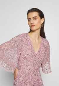 Maya Deluxe - FRONT CAPE SLEEVE DRESS - Suknia balowa - pink