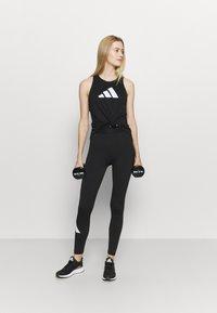 adidas Performance - LOGO TANK - T-shirt sportiva - black/grey four/white - 1
