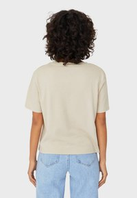 Stradivarius - Print T-shirt - beige - 2