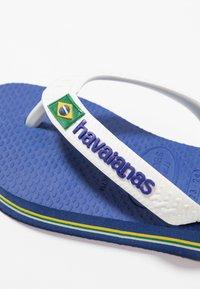 Havaianas - BRASIL LOGO - Teenslippers - blue, white - 5