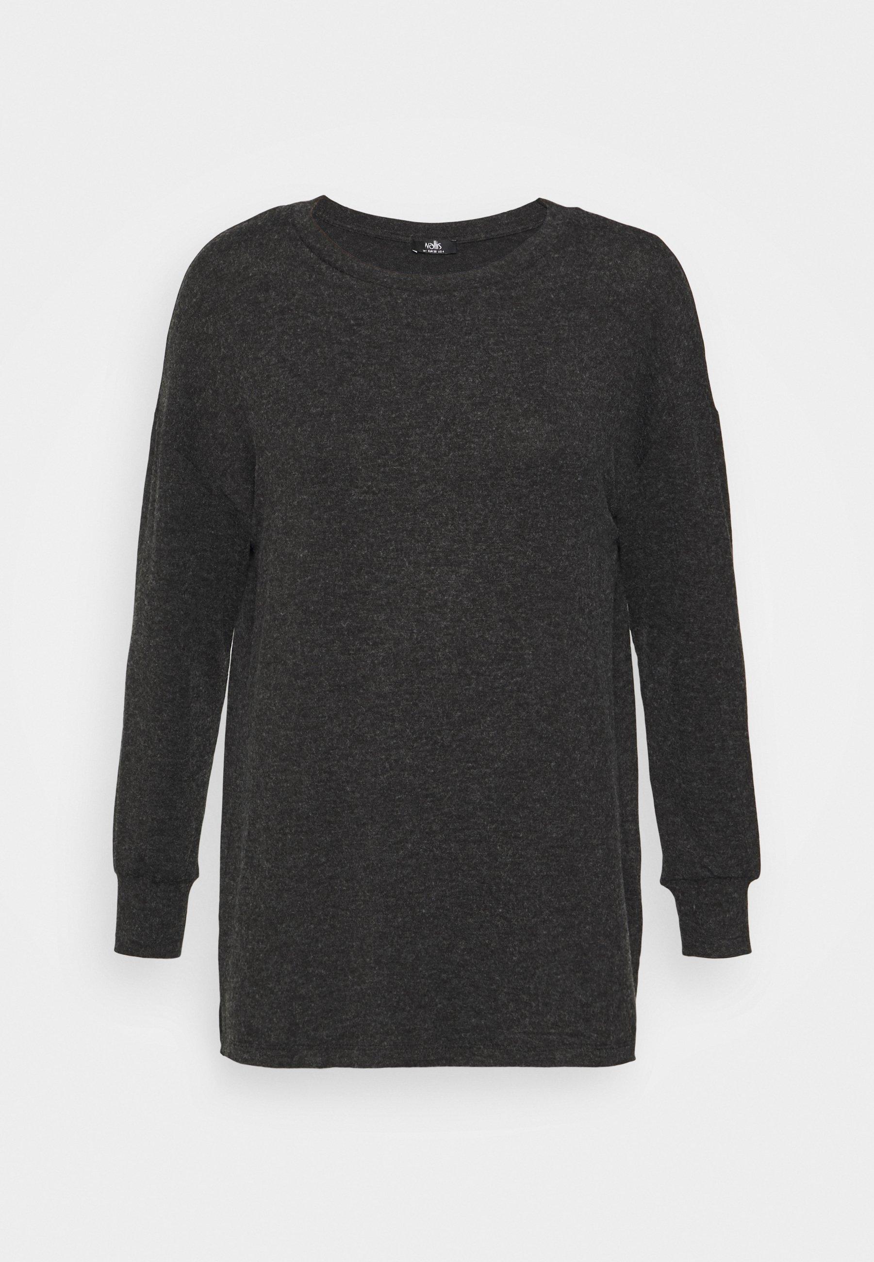 Women GREY MARL LEISURE - Long sleeved top