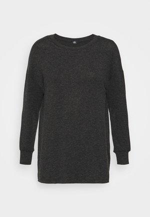 GREY MARL LEISURE - Long sleeved top - grey