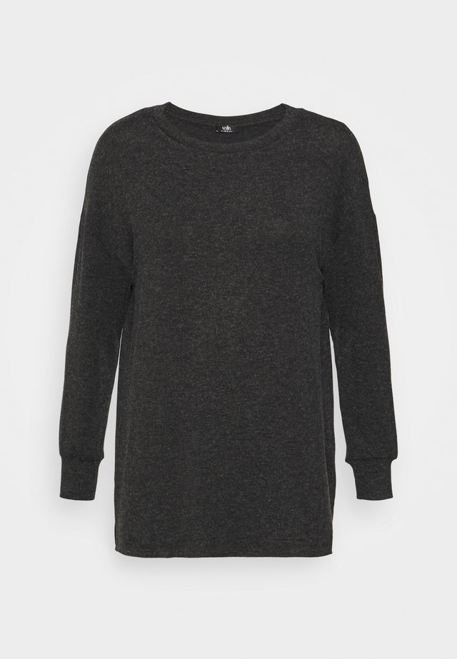 GREY MARL LEISURE - Long sleeved top - grey