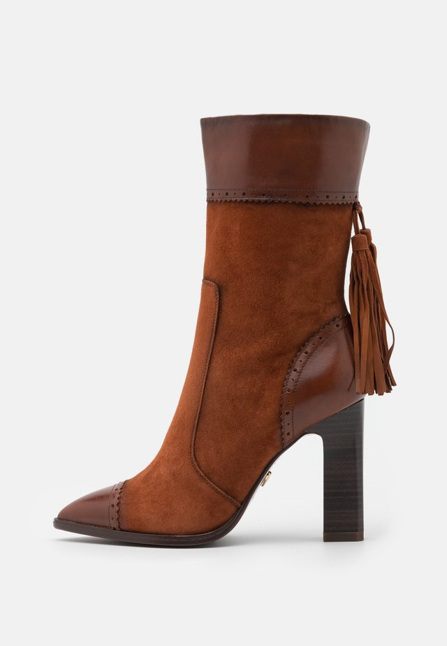 BOOTS - High heeled boots - brandy