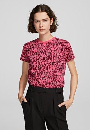 Print T-shirt - fuchisa
