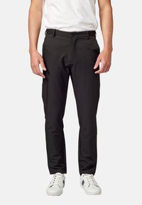 Koroshi - PANTALON LARGO - Pantalones chinos - black - 0