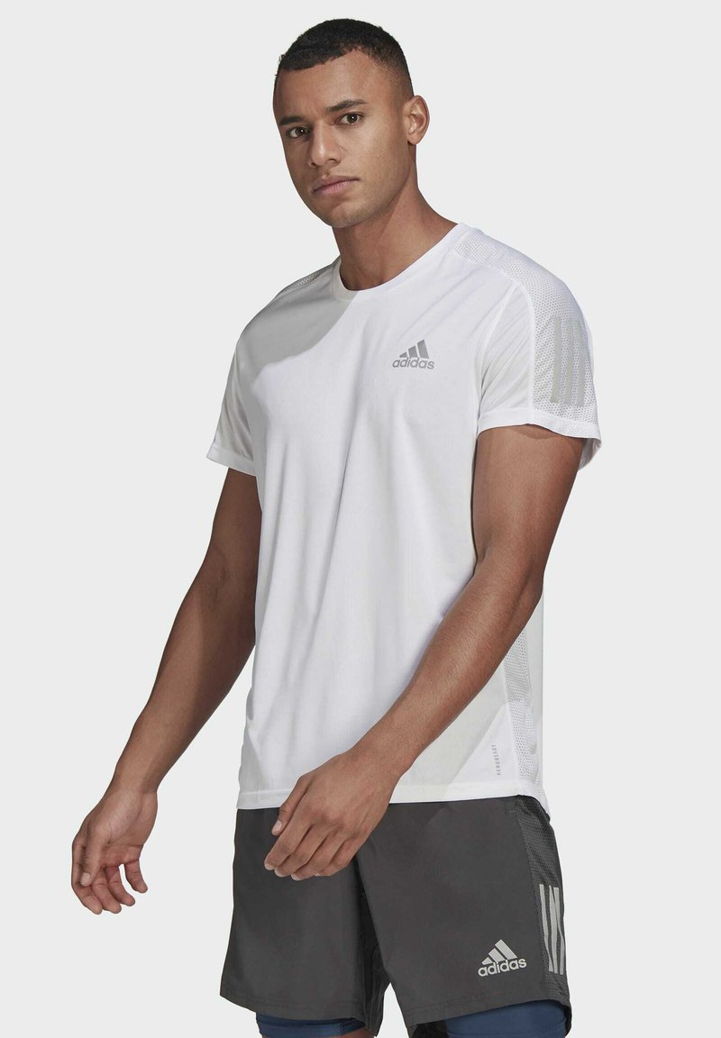 adidas Performance - OWN THE RUN - T-shirts med print - white