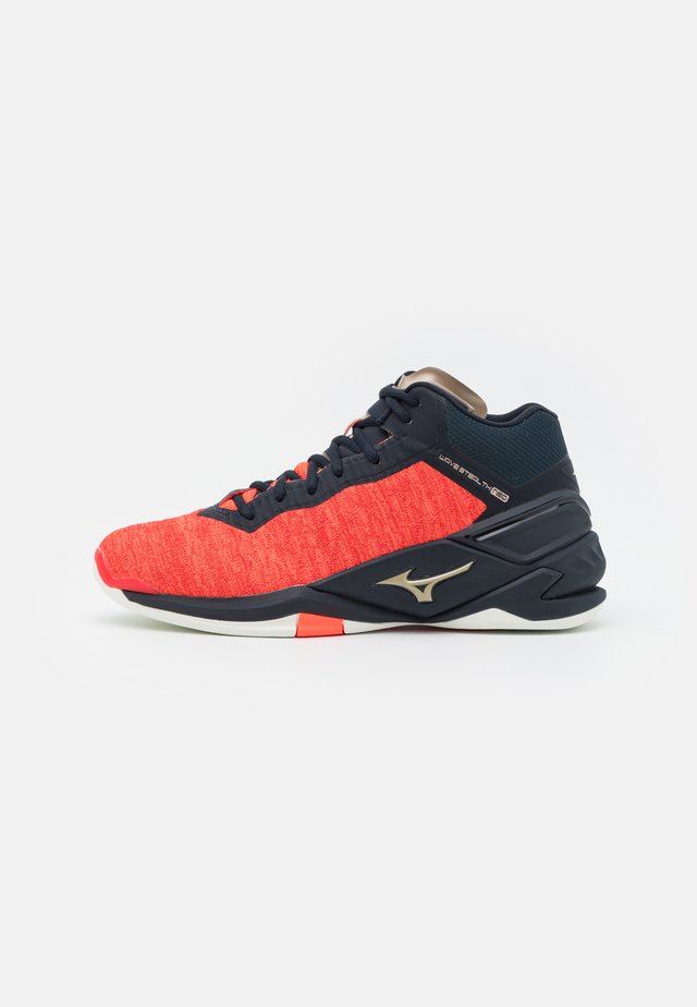 WAVE NEO MID - Handball shoes - ignition red/platinum gold/salute