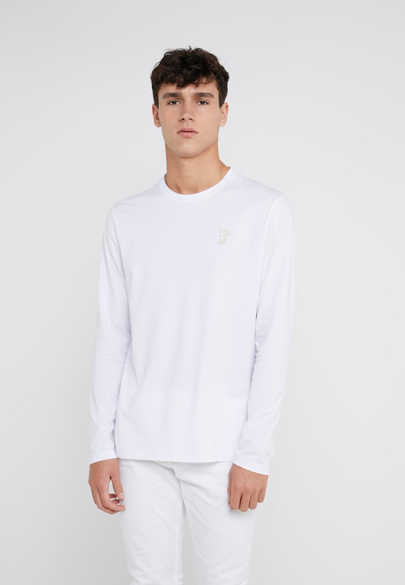 Versace Collection - Langærmede T-shirts - bianco oro