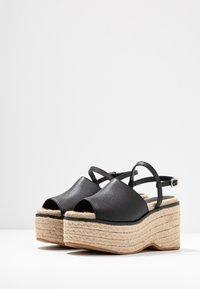 Topshop - WAKE - Sandály na vysokém podpatku - black - 4