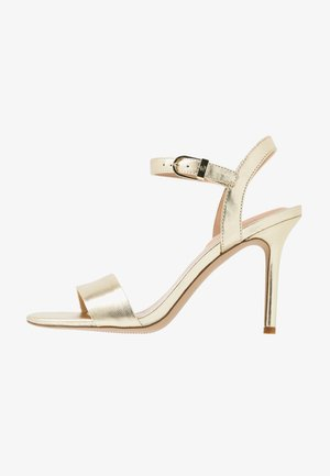METALLIC GWEN - High heeled sandals - pale gold