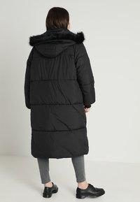 Urban Classics Curvy - LADIES OVERSIZE COAT - Winter coat - black/black - 3