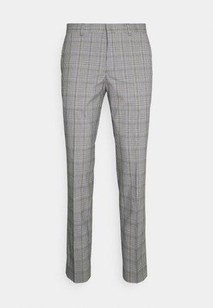 SLHSLIM KYLELOGAN - Trousers - light gray/multi