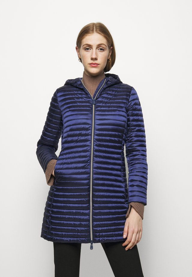 IRIS ALBERTA LONG HOODED COAT - Mantel - navy blue