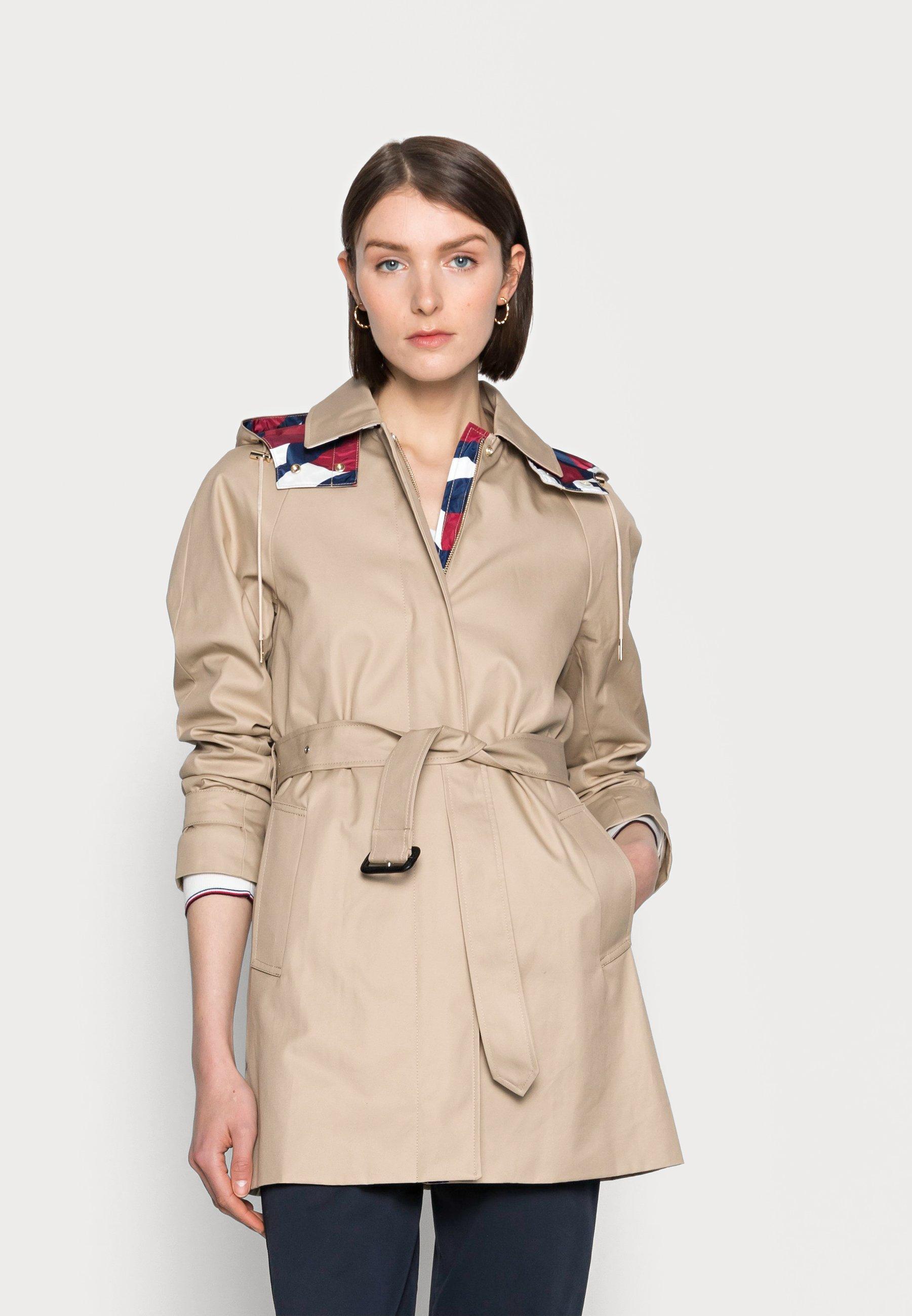 Women MOTION FLAG BELTED - Classic coat