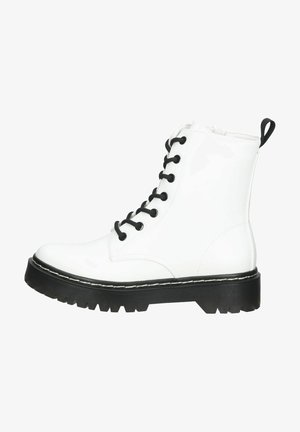 Lace-up ankle boots - soft white