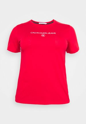 ROUND TEE - T-shirt con stampa - red