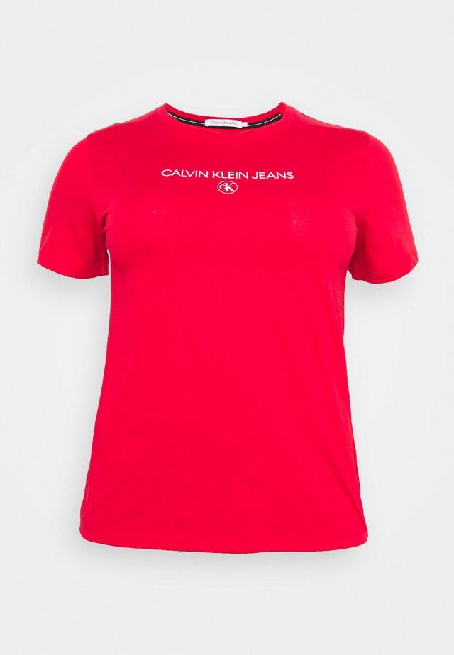 ROUND TEE - Print T-shirt - red