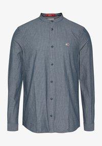 Tommy Jeans - SEERSUCKER MAO  - Shirt - blue - 0