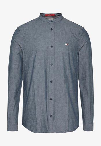 SEERSUCKER MAO  - Shirt - blue