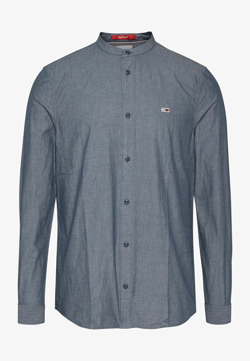 Tommy Jeans - SEERSUCKER MAO  - Shirt - blue