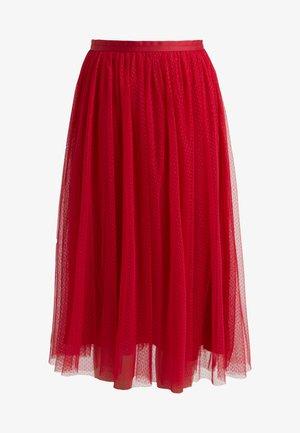 DOTTED SKIRT - A-line skirt - deep red