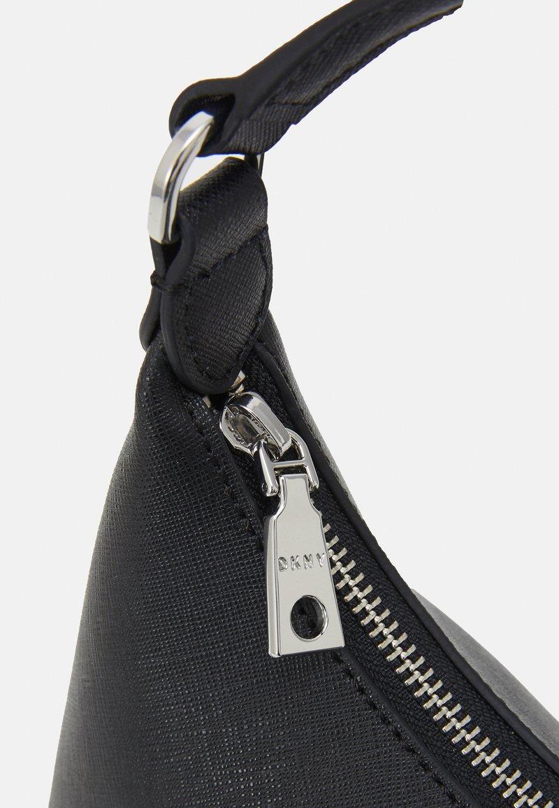 DKNY - CAROL POUCHETTE - Handbag - black/silver-coloured