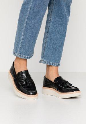 TRACE TASSEL - Scarpe senza lacci - black