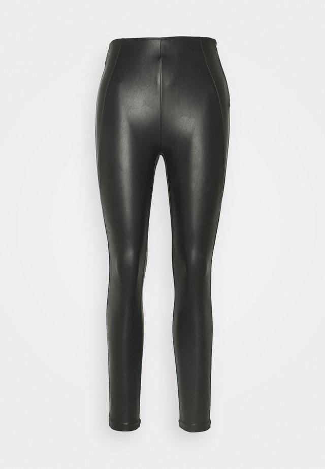 VIANNAS COATED - Leggingsit - black