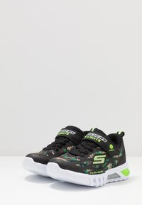 Skechers - FLEX-GLOW - Trainers - black/lime - 2