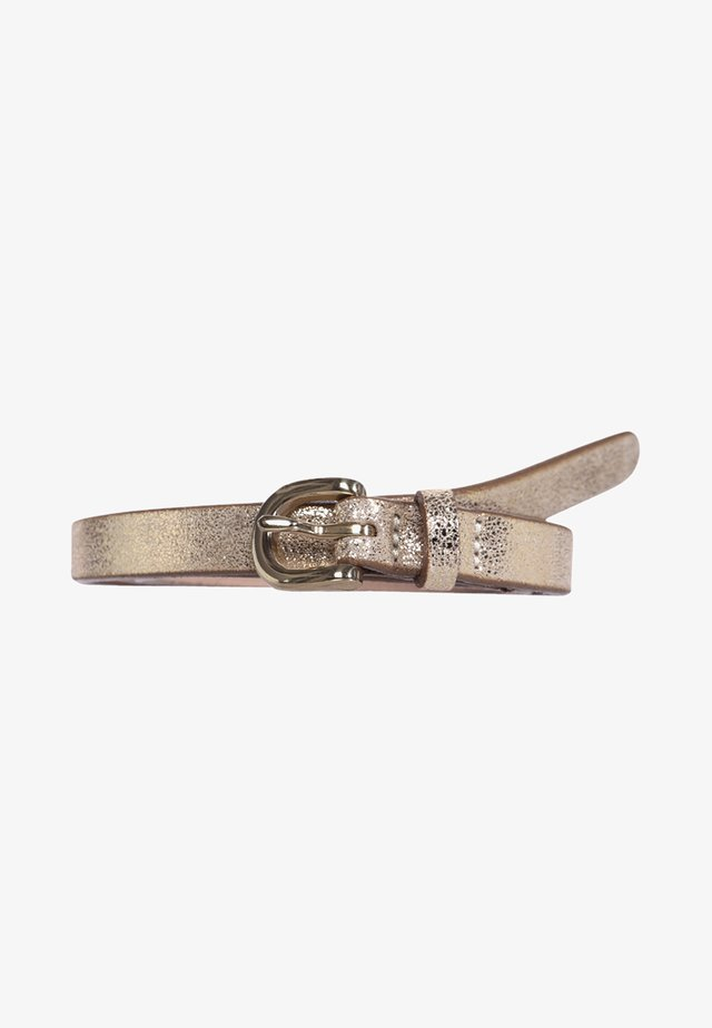 Belt - metallic gold