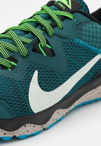 Nike Performance - JUNIPER - Trail running shoes - dark teal green/light silver/black - 5