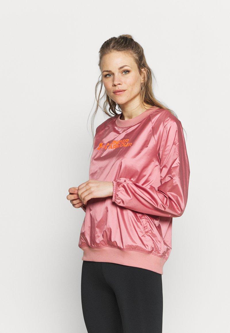 Under Armour - RECOVER SHINE CREW - Sweatshirt - stardust pink