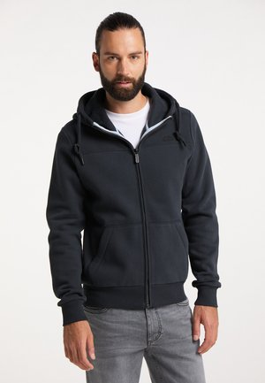 Zip-up sweatshirt - dunkelmarine