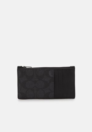 ZIP CARD CASE IN SIGNATURE - Peněženka - charcoal